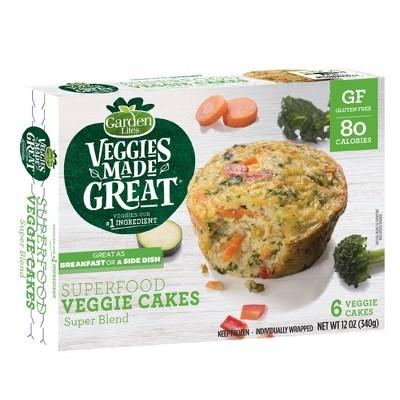 Garden Lites Veggies Made Great Frozen Superfood Veggie Cakes - 12oz/6ct