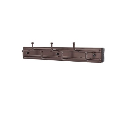 Rev-A-Shelf BRC-12ORB 12-Inch Wall Mounted Pull Out Closet Belt and Scarf Organization Rack Accessories Holder Hanger with 7 Hooks, Oil Rubbed Bronze