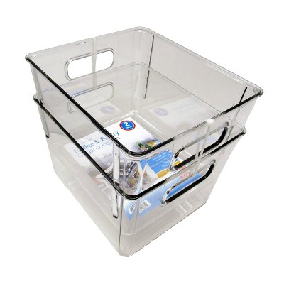 Dial 2pc Set of Bins Clear