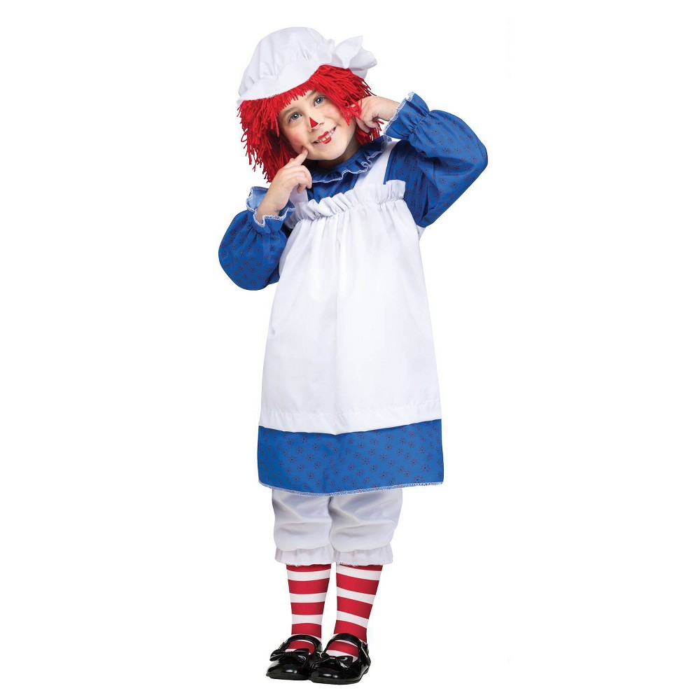 Image of Halloween Girls' Raggedy Ann Toddler Costume 2 To 4, Girl's, Size: 2T-4T, MultiColored