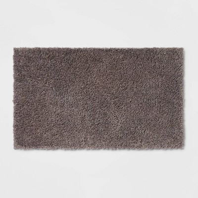 "20""x34"" Antimicrobial Bath Rug Dark Gray - Total Fresh"