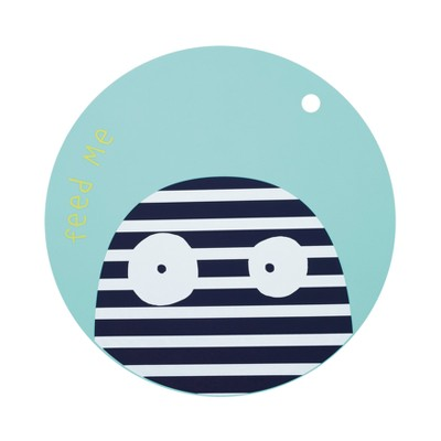 Lassig Little Monster Silicone Bouncing Bob Placemat - Blue