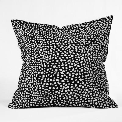 Iveta Abolina Dots Throw Pillow Black - Deny Designs