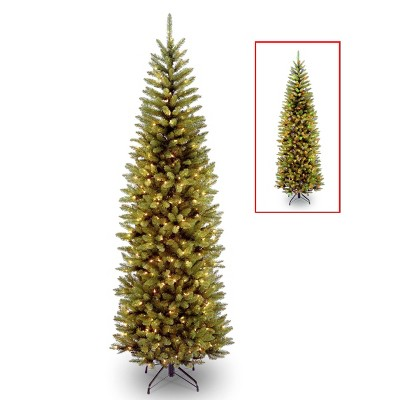 7ft National Christmas Tree Company Kingswood Fir Artificial Pencil Christmas Tree Dual Color LED