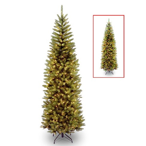 7ft National Christmas Tree Company Kingswood Fir Artificial Pencil Christmas Tree Dual Color LED - image 1 of 3