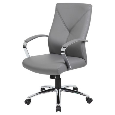 Contemporary Executive Office Chair Gray - Boss Office Products