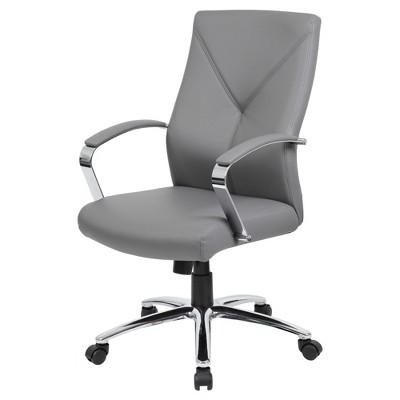 Contemporary Executive Office Chair Gray - Boss
