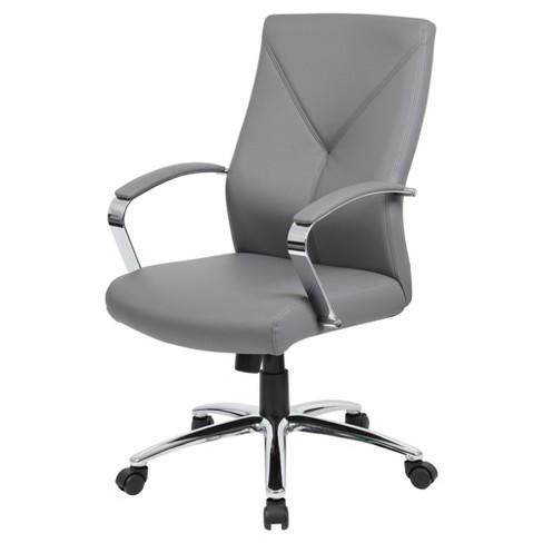 Contemporary Executive Office Chair Gray Boss