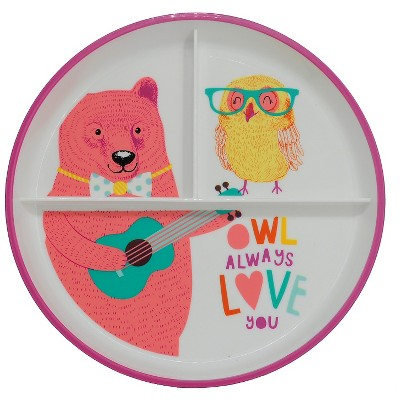Round Divided Dinner Plate Owl & Friends - Circo™