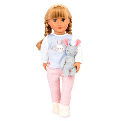 "Our Generation 18"" Sleepover Doll with Plush Bunny - Jovie"