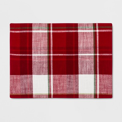 19 x14  Plaid Placemat Red - Threshold™