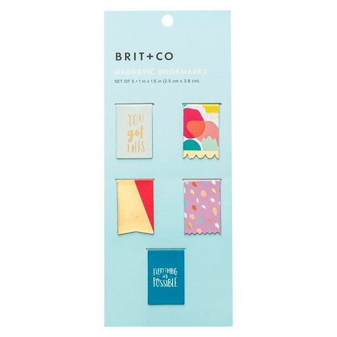 Brit +  Co® Magnetic Bookmarks - image 1 of 3