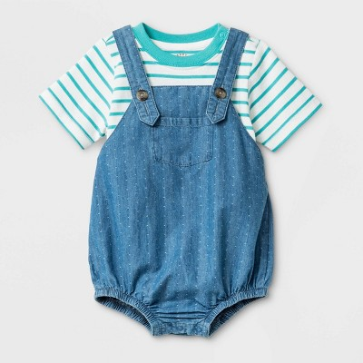 Baby Boys' Top and Bottom Set - Cat & Jack™ Blue 6-9M