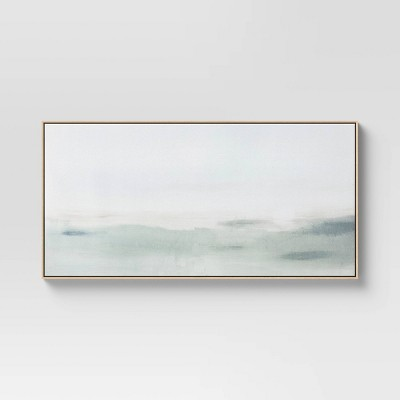 "47"" x 24"" Haze Framed Wall Canvas - Threshold™"