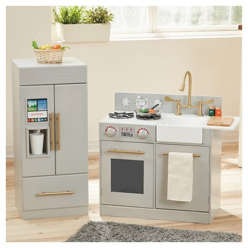 Teamson Kids Urban Adventure Play Kitchen - Gray - image 1 of 8
