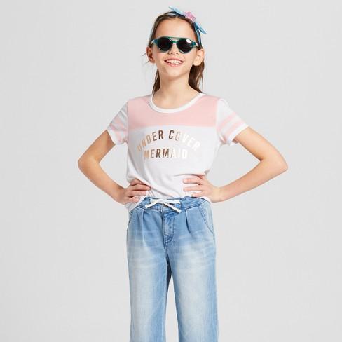 55d6023fdb9 Grayson Social Girls   Undercover Mermaid  Short Sleeve T-Shirt - White