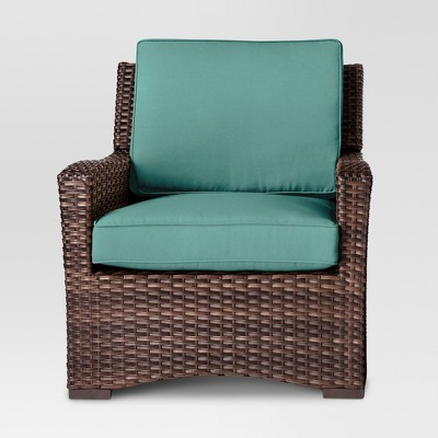 Halsted All Weather Wicker Patio Club Chair - Turquoise - Threshold™