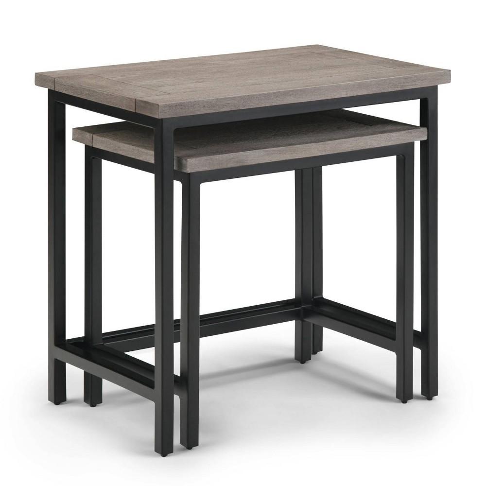"Image of ""25"""" 2pc Rhonda Solid Mango Wood Nesting Side Table Birch - Wyndenhall, Brown"""