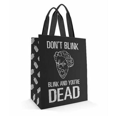 Se7en20 Doctor Who Don't Blink Large Tote Bag
