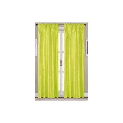 Ramallah Trading Nikki Faux Silk Rod Pocket Curtain Panel 54 x 90