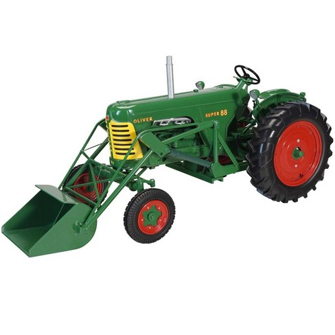 """Oliver Super 88 Wide Front with Loader Green """"Classic Series"""" 1/16 Diecast Model by SpecCast - image 1 of 2"""