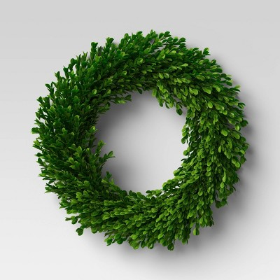 "21.25"" Preserved Boxwood Wreath - Threshold™"