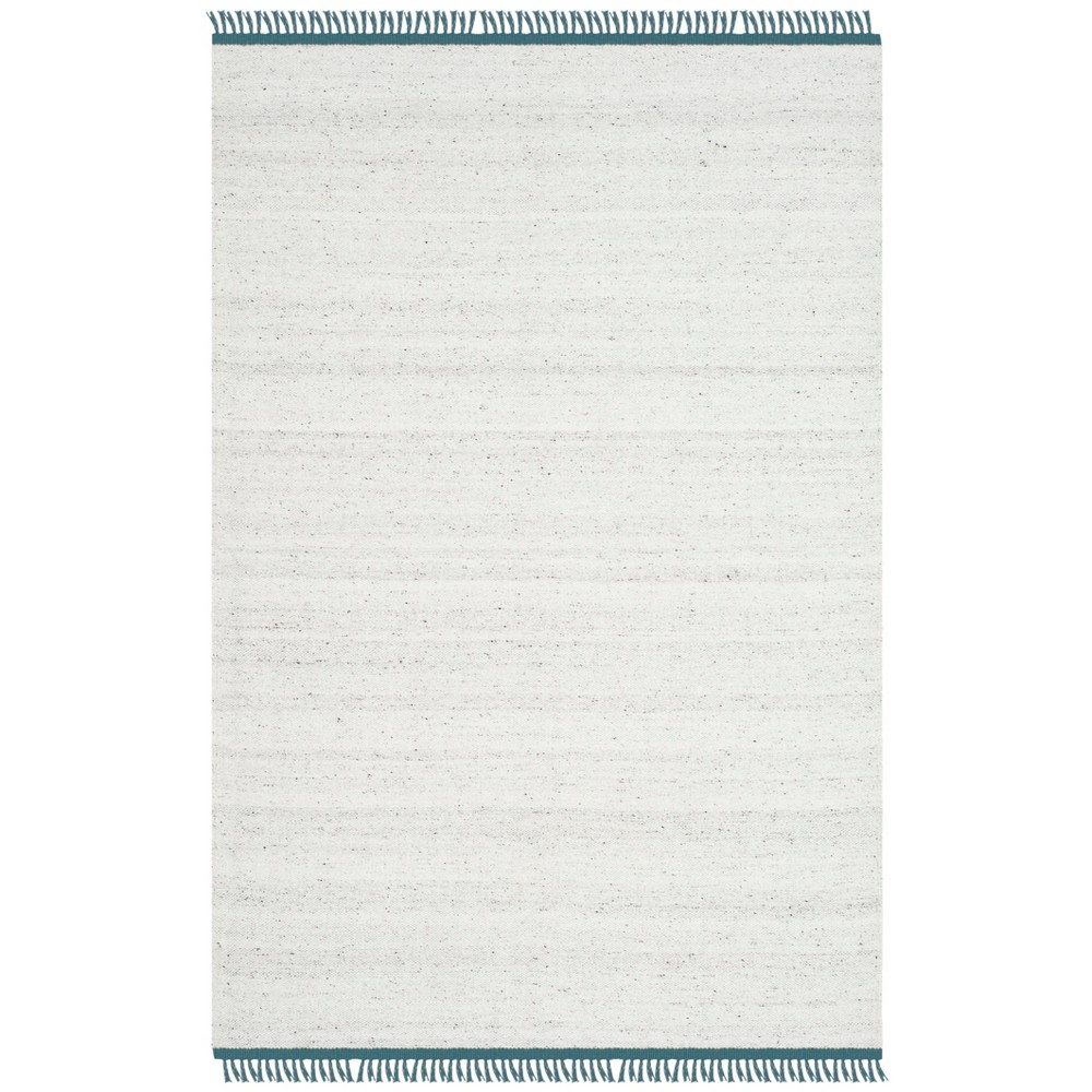 4'X6' Solid Woven Area Rug Ivory/Gray - Safavieh, White