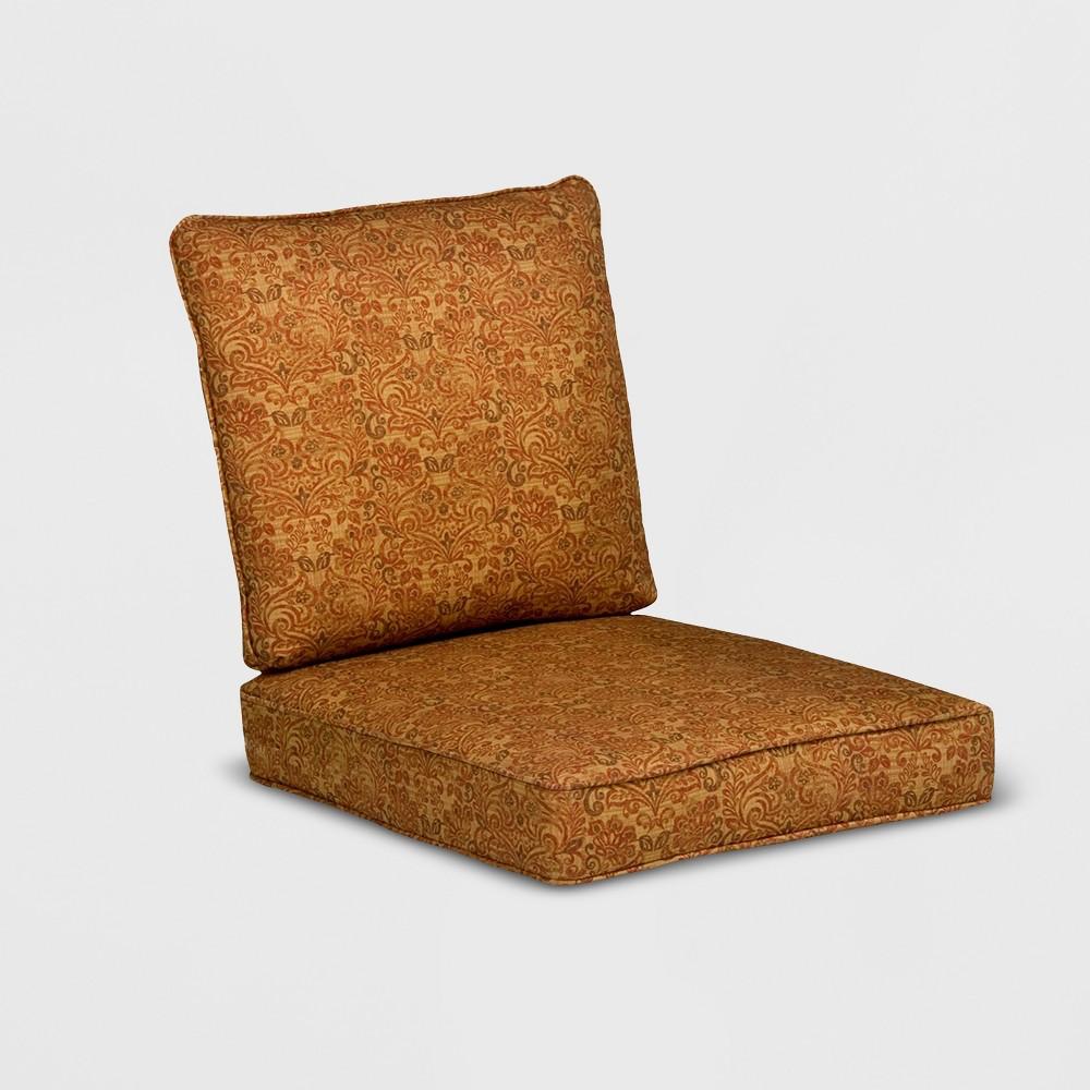 Image of Madaga Outdoor Conversation/Deep Seating Cushion Set Gold Floral - Grand Basket
