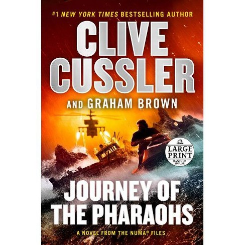 Journey of the Pharaohs - (NUMA Files) Large Print by  Clive Cussler & Graham Brown (Paperback) - image 1 of 1
