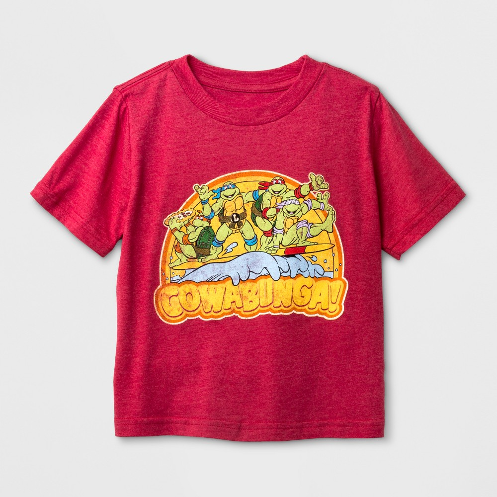 Toddler Boys' Nickelodeon Teenage Mutant Ninja Turtles Short Sleeve T-Shirt - Red 4T