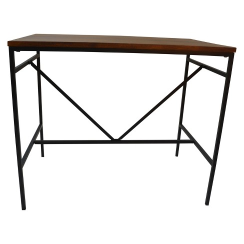Ira Bar Table - Chestnut/Black - Carolina Chair and Table - image 1 of 3