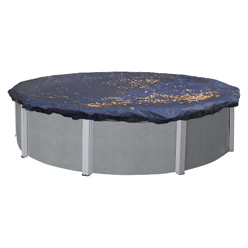 Blue Wave Round Leaf Net Above Ground Pool Cover - image 1 of 4