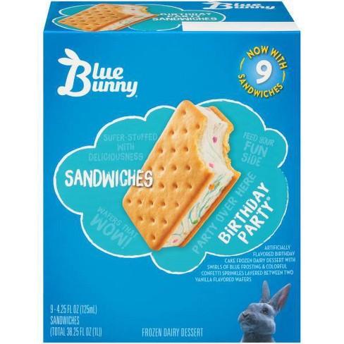 Fine Blue Bunny Premium Sandwiches Birthday Party 9Ct Target Funny Birthday Cards Online Aeocydamsfinfo