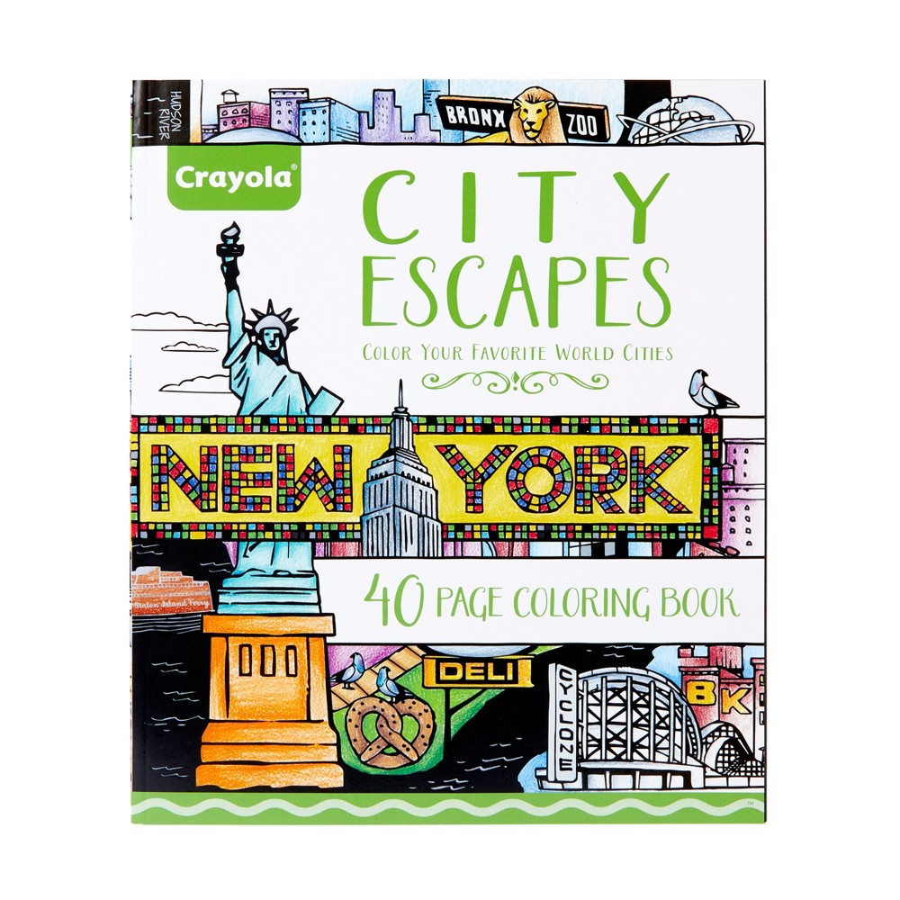 Crayola Aged Up City Escapes Coloring Book, White