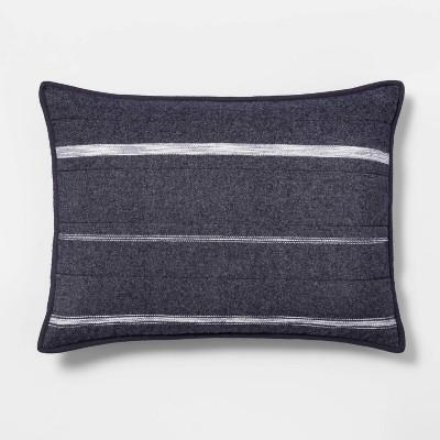 Textured Flannel Stripe Quilt Sham - Threshold™
