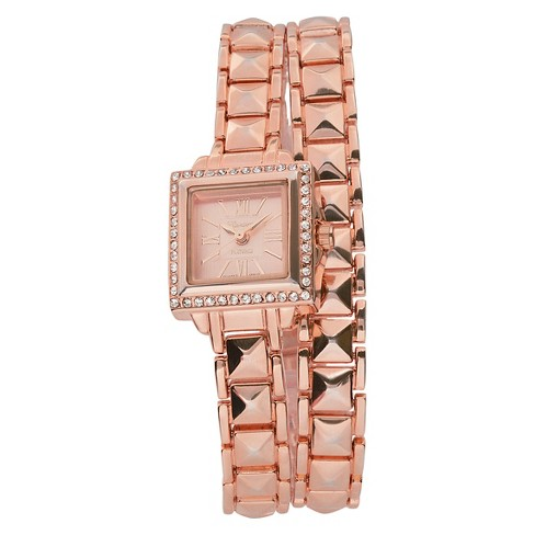 Geneva Platinum Women's Wristwatch Rose Gold - image 1 of 3