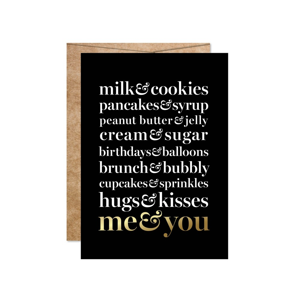 "Image of """"""Me & You"""" Foil Art Card Gold"""