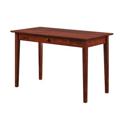 Shaker Wood Writing Desk with Drawers Walnut - Atlantic Furniture