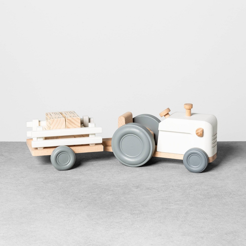 Image of Wooden Tractor Set - Hearth & Hand with Magnolia