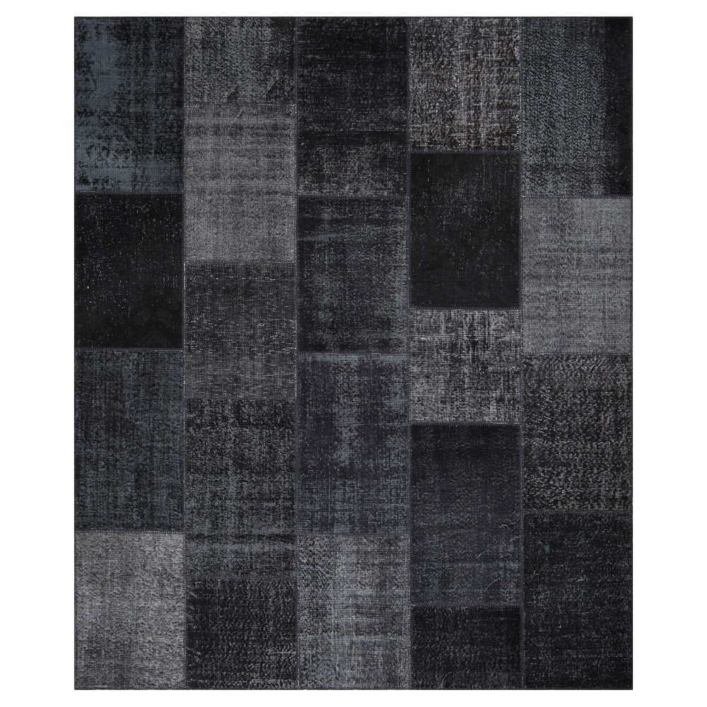 "Image of ""Antique Patchwork Area Rug Coal 8'2""""x9'10"""""""