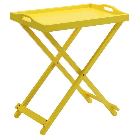 Folding Tray Table - Yellow - Convenience Concepts - image 1 of 3