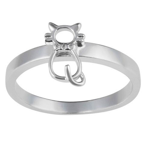 Women's Journee Collection Cat Emblem in Sterling Silver - image 1 of 2