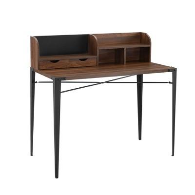 Rodrigue Industrial Secretary Desk with Magnet Board - Saracina Home