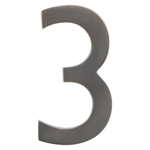 "Architectural Mailboxes 5"" House Number 3 - Dark Aged Copper - image 1 of 2"