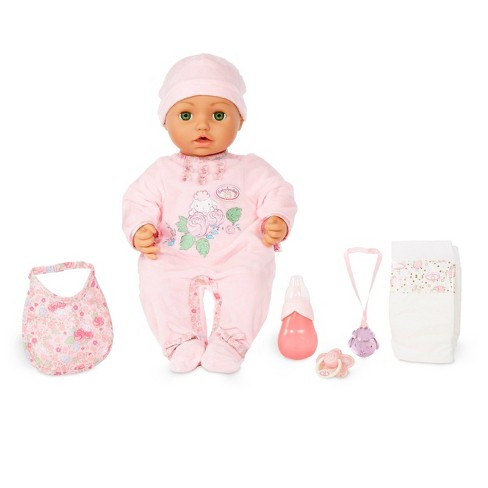 Baby Annabell with Green Eyes Soft-Bodied Baby Doll - image 1 of 4