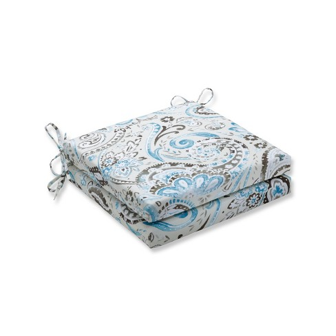 Indoor/Outdoor 2pc Vermilya Tidepool Squared Corners Seat Cushion - Pillow Perfect - image 1 of 1