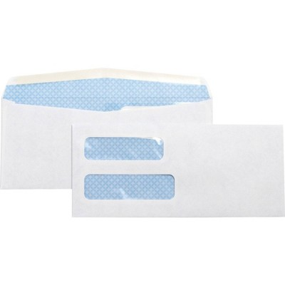 Business Source 500ct No.10 Double Window Invoice Envelopes - White