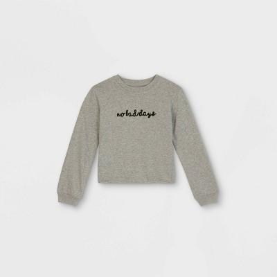 Girls' Embroidered Graphic Long Sleeve T-Shirt - art class™