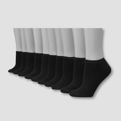 Hanes Women's 10pk No Show Socks 5-9