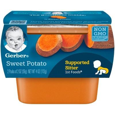 Gerber 1st Foods Baby Food Sweet Potato - 2oz (2ct)